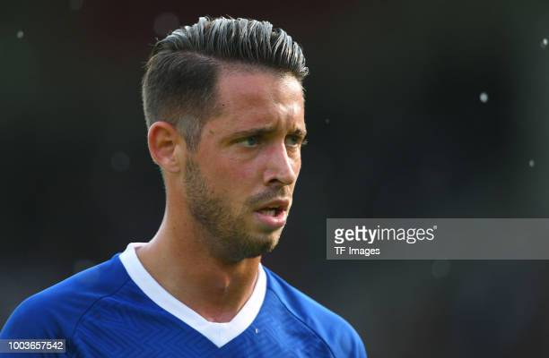 Mark Uth of Schalke looks on during the Friendly match between Schwarz Weiss Essen and FC Schalke 04 on July 21 2018 in Essen Germany