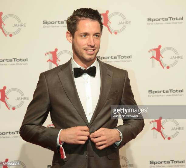 Mark Uth poses at the 10th anniversary celebration of the Sports Total Agency on November 5 2017 in Cologne Germany