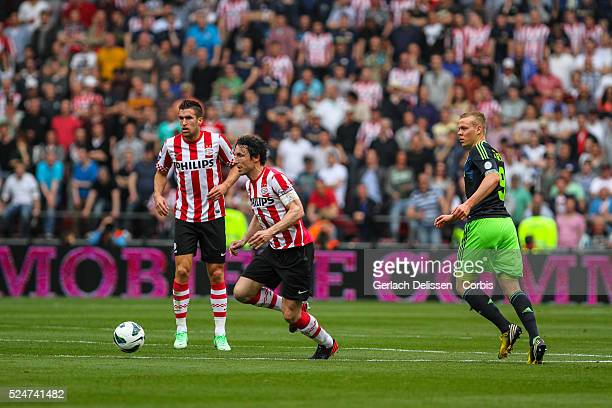 Mark van Bommel on the attack during the match PSV-AJAX played in Eindhoven on April 14th 2013