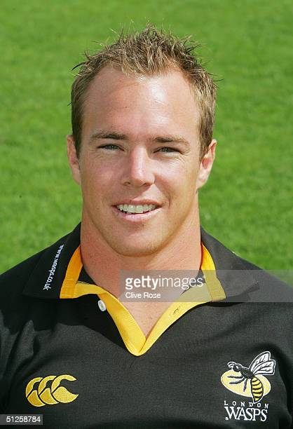 Mark van Gisbergen pictured during the London Wasps squad photocall at Twyford Avenue on August 20 2004 in Acton London England
