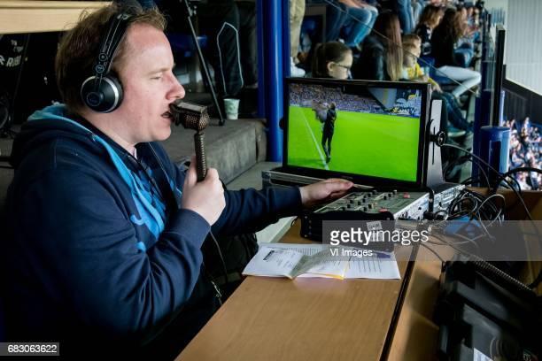 Mark van Rijswijk commentator of Fox Sportsduring the Dutch Eredivisie match between Vitesse Arnhem and Roda JC Kerkrade at Gelredome on May 14 2017...