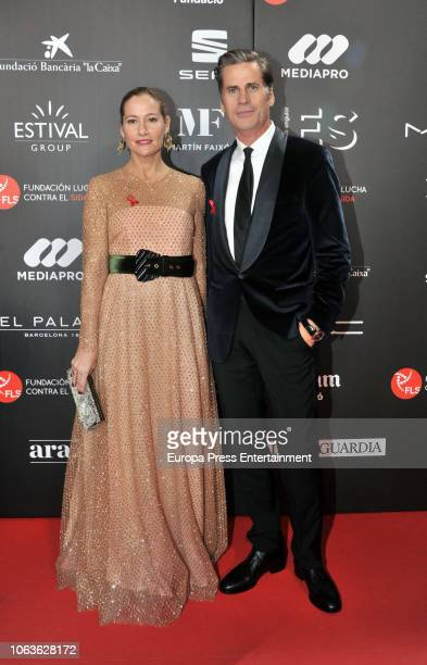 Mark Vanderloo and Fiona Ferrer during the photocall for 'People in Red' gala held at the Museu Nacional d'Art de Catalunya on November 19 2018 in...