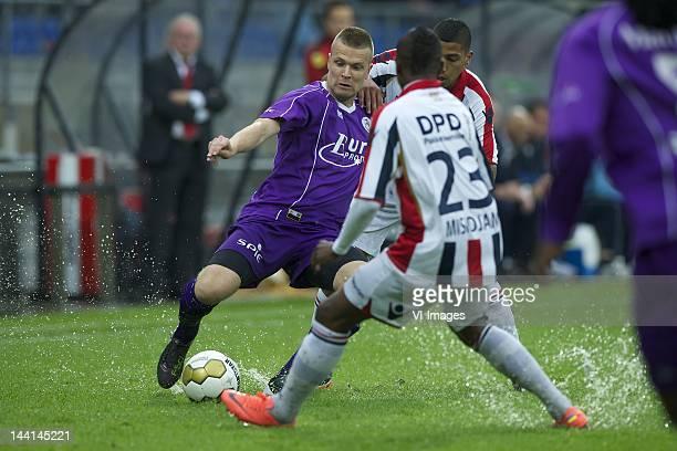 Mark Veldmate of Sparta RotterdamVirgil Misidjan of Willem IIMarlon Pereira of Willem II during the Eredivisie Promotion/Relegation Play Off match...