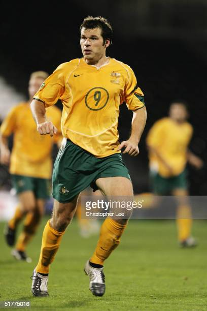 Mark Viduka of Australia in action during the International friendly match between Australia and Norway at Craven Cottage on November 16 in London