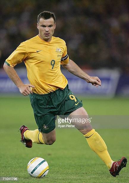 Mark Viduka of Australia in action during the Powerade Cup international friendly match between Australia and Greece at the Melbourne Cricket Ground...