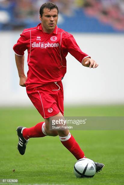 Mark Viduka of Middlesbrough in action during an International Friendly match between FC Hansa Rostock and Middlesbrough FC to mark the 50th...