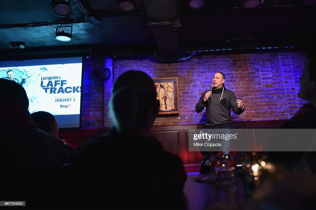 Mark Viera performs onstage during truTV's Laff Mobb's Laff Tracks comedy show at The Village Underground on December 6, 2017 in New York City. (Photo by Mike Coppola/Getty Images for truTV) 27506_001