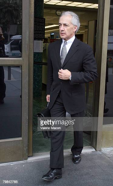 Mark Vincent Kaplan, attorney for Kevin Federline, Britney Spears' ex-husband, leaves the Los Angeles County Superior courthouse February 19, 2008 in...