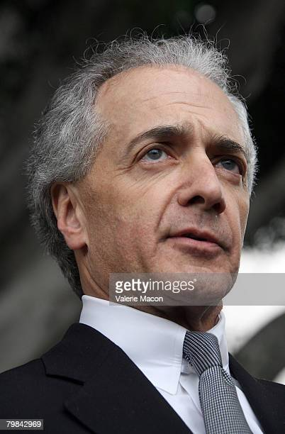 Mark Vincent Kaplan, attorney for Kevin Federline, Britney Spears' ex-husband, speaks to the media in front of the Los Angeles County Superior...