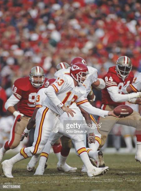 Mark Vlasic Quarterback for the Kansas City Chiefs during the National Football Conference West game against the Kansas City Chiefs on 14 December...