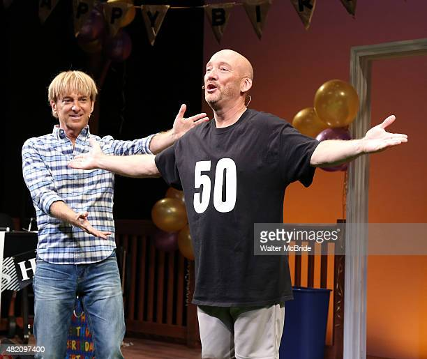 Mark Vogel and Lynn Shore during the opening night curtain call for 'HAPPY 50ish' the new musical comedy at the Beckett Theatre on Theatre Row on...
