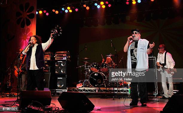 Mark Volman and Howard Kaylan of the Turtles perform at Hippiefest at the Greek Theater on July 16 2008 in Los Angeles California