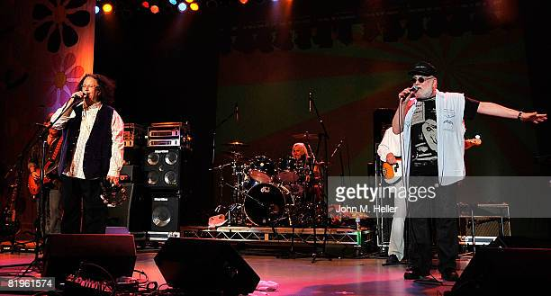 Mark Volman and Howard Kaylan of the Turtles performs at Hippiefest at the Greek Theater on July 16 2008 in Los Angeles California