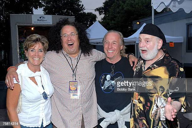 Mark Volman Howard Kaylan of The Turtles Jackie Martling and guest at Hippifest 2007 at Assey Levy Park Brooklyn New York July 26 2007