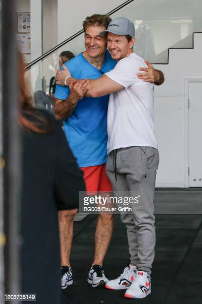Mark Wahlberg and Dr. Oz are seen on February 27, 2020 in Los Angeles, California.