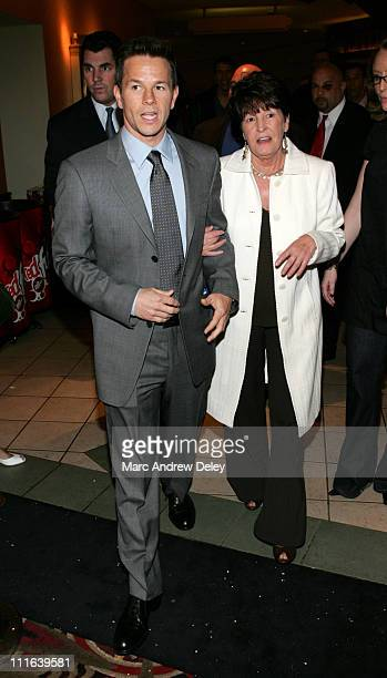 """Mark Wahlberg and his mother, Alma Wahlberg during """"Shooter"""" Boston Premiere - Arrivals at Loews Theatre Boston Common in Boston, Massachusetts,..."""