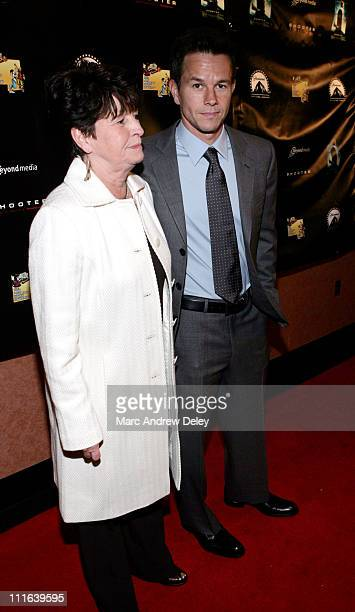 Mark Wahlberg and his mother Alma Wahlberg during 'Shooter' Boston Premiere Arrivals at Loews Theatre Boston Common in Boston Massachusetts United...