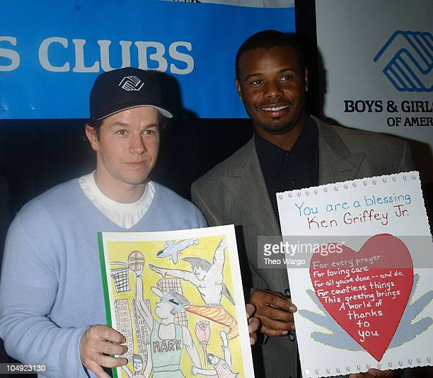 Mark Wahlberg and Ken Griffey Jr during Prominent Boys Girls Clubs of America Alumni and Supporters Join forces for Campaign 3 PM at WaldorfAstoria...