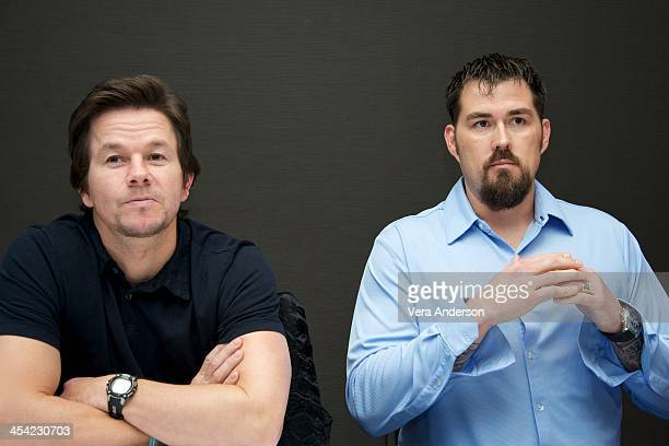 Mark Wahlberg and Marcus Luttrell at the Lone Survivor Press Conference at Mandarin Oriental Hotel on December 6 2013 in New York City