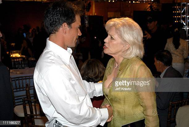 Mark Wahlberg and Margaret Blye during The Italian Job Premiere After Party at El Capitan Parking Lot in Hollywood California United States
