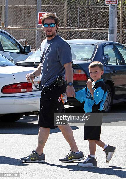 Mark Wahlberg and Michael Wahlberg are seen on October 27 2012 in Los Angeles California