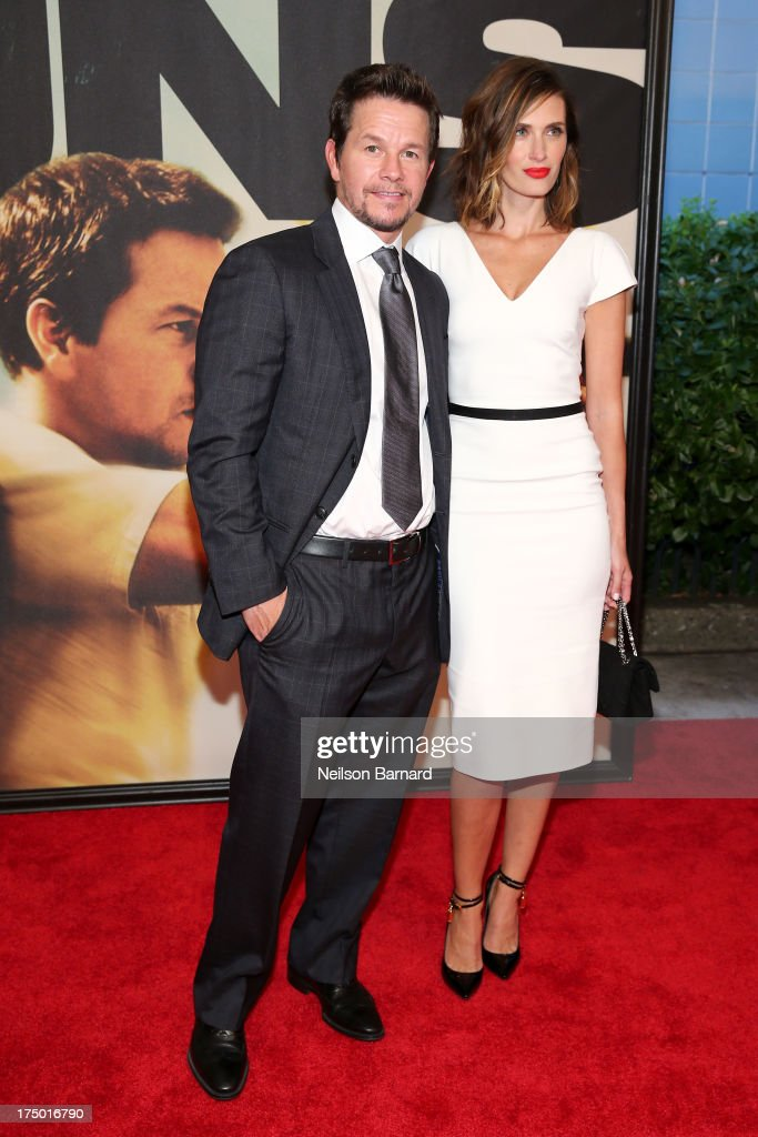 Mark Wahlberg and Rhea Durham attend '2 Guns' New York Premiere at SVA Theater on July 29, 2013 in New York City.