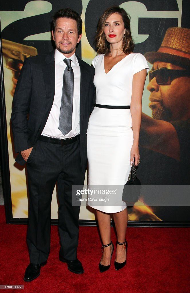 Mark Wahlberg and Rhea Durham attend the '2 Guns' premiere at SVA Theater on July 29, 2013 in New York City.