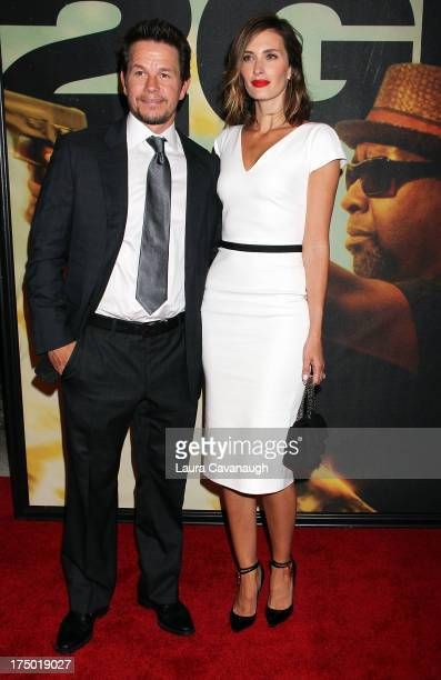"""Mark Wahlberg and Rhea Durham attend the """"2 Guns"""" premiere at SVA Theater on July 29, 2013 in New York City."""