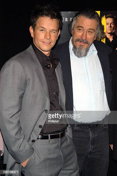 """Mark Wahlberg and Robert De Niro during 2003 Tribeca Film Festival - """"The Italian Job"""" Premiere at Tribeca Performing Arts Center in New York City,..."""