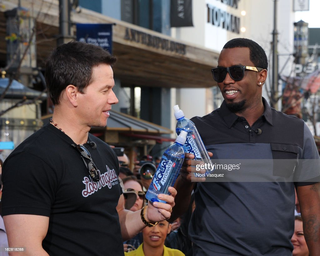 "Jimmie Johnson, Mark Wahlberg And Sean Combs On ""Extra"""