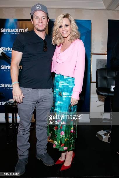 Mark Wahlberg and SiriusXM Host Jenny McCarthy attend SiriusXM's 'Town Hall' With the Cast of 'Transformers The Last Knight' Town Hall Hosted By...