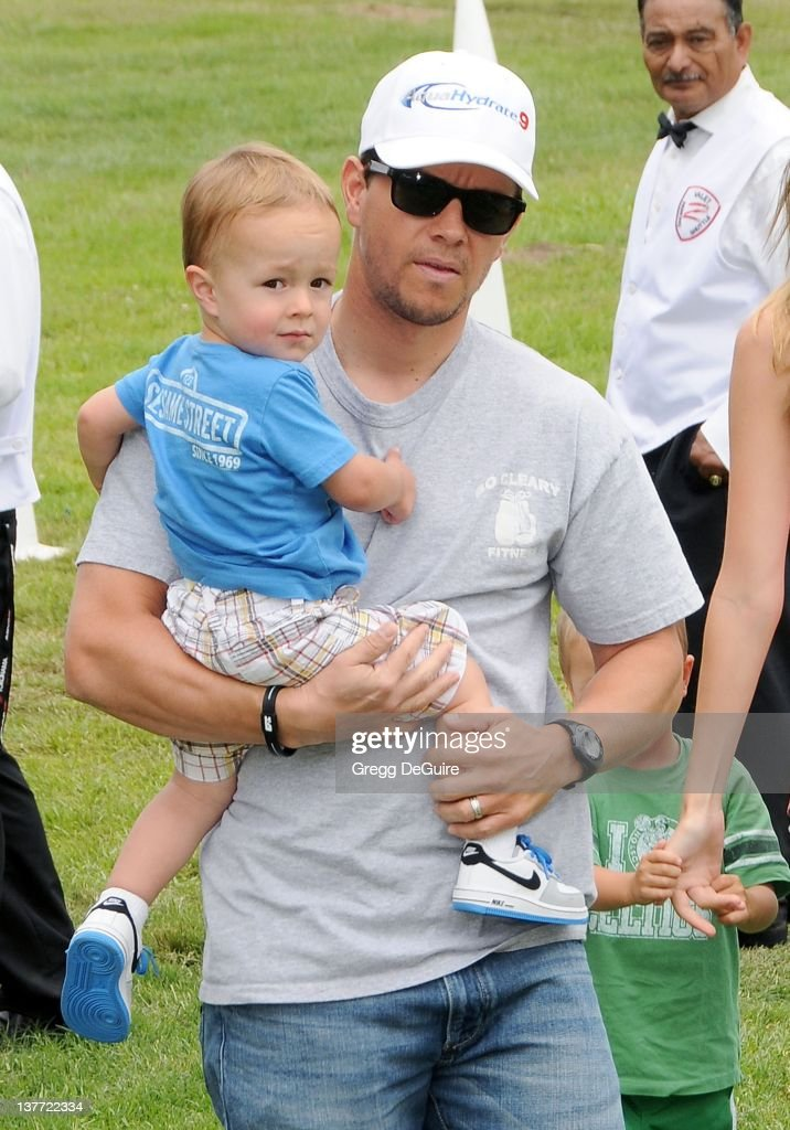 Mark Wahlberg and son arrive at the 21st Annual A Time For Heroes Celebrity Picnic sponsored by Disney to benefit The Elizabeth Glaser Pediatric AIDS Foundation on June 13, 2010 at the Wadsworth Theater on the VA Lawn in Los Angeles, California.