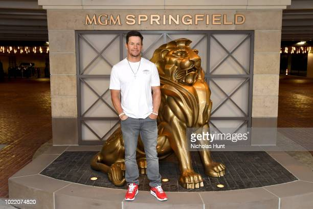 Mark Wahlberg announces the new Wahlburgers location coming to MGM Springfield in late 2019 on August 23 2018 in Springfield Massachusetts