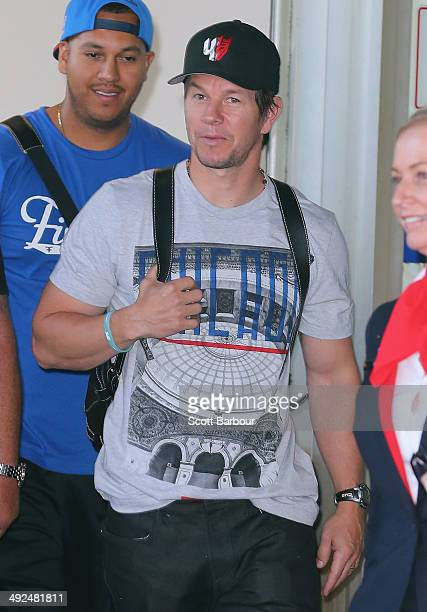Mark Wahlberg arrives at Melbourne International Airport on May 21 2014 in Melbourne Australia