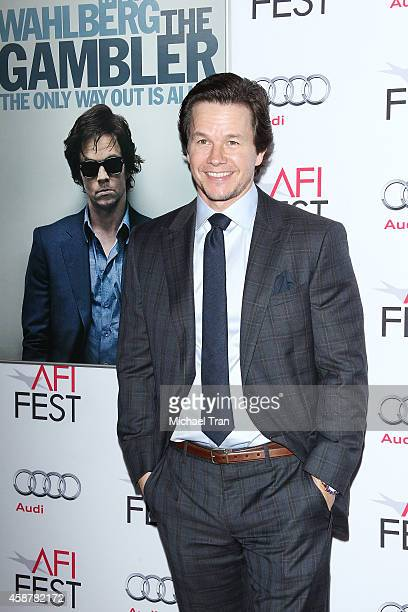 Mark Wahlberg arrives at the AFI FEST 2014 presented by Audi 'The Gambler' premiere held at Dolby Theatre on November 10 2014 in Hollywood California