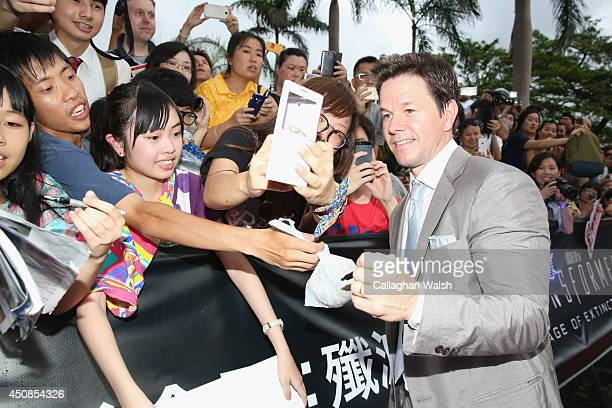 Mark Wahlberg arrives at the worldwide premiere screening of 'Transformers Age of Extinction'at the on June 19 2014 in Hong Kong Hong Kong