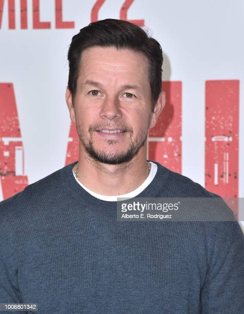 """Mark Wahlberg attends a photo call for STX Films' """"Mile 22"""" at Four Seasons Hotel Los Angeles at Beverly Hills on July 28, 2018 in Los Angeles,..."""