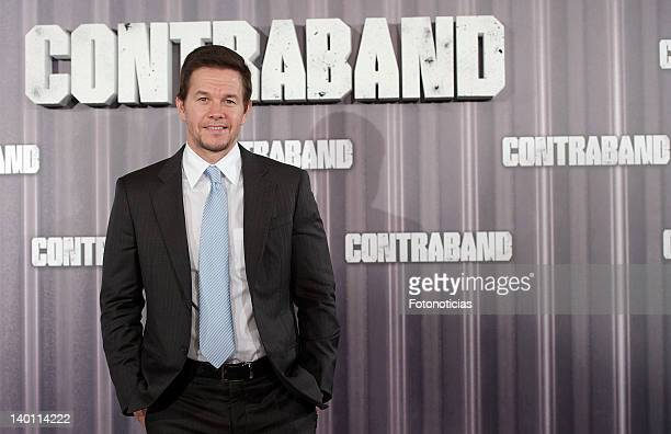 Mark Wahlberg attends a photocall for 'Contraband' at Villa Magna Hotel on February 28, 2012 in Madrid, Spain.