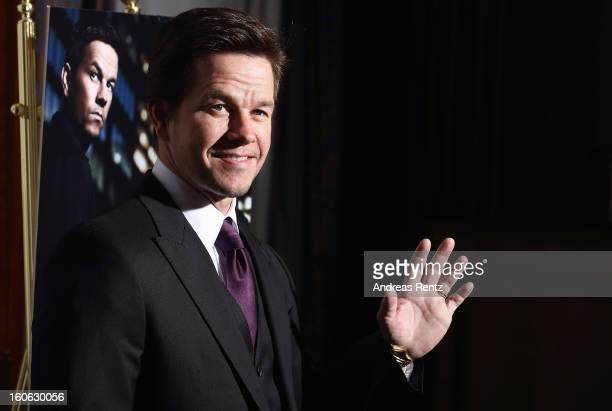 Mark Wahlberg attends a photocall to promote the film 'Broken City' at Ritz Carlton Hotel on February 4 2013 in Berlin Germany