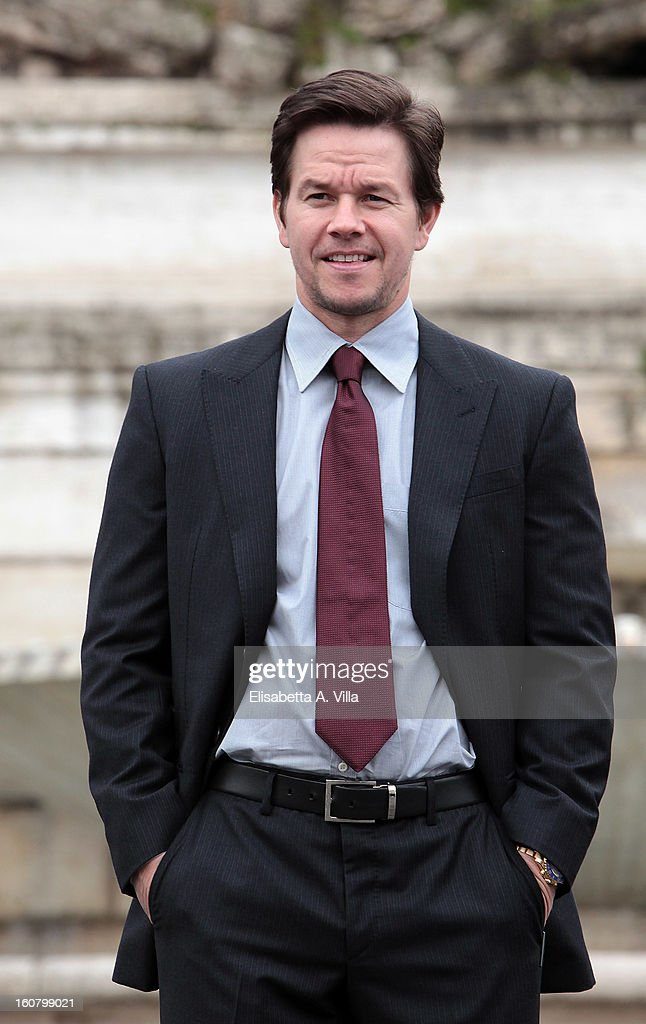 Mark Wahlberg attends 'Broken City' Rome Photocall at Piazza Del Popolo on February 6, 2013 in Rome, Italy.