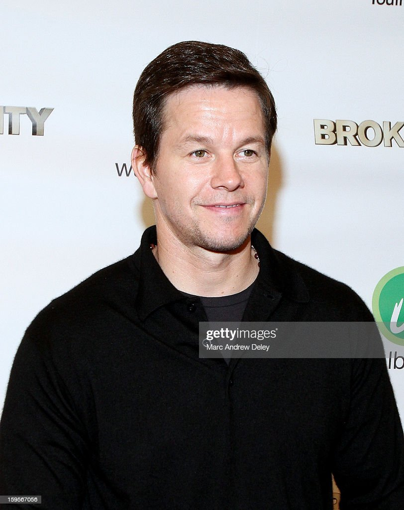 Mark Wahlberg attends screening of 'Broken City' hosted by Mark Wahlberg at Patriot Cinemas on January 15, 2013 in Hingham, Massachusetts.