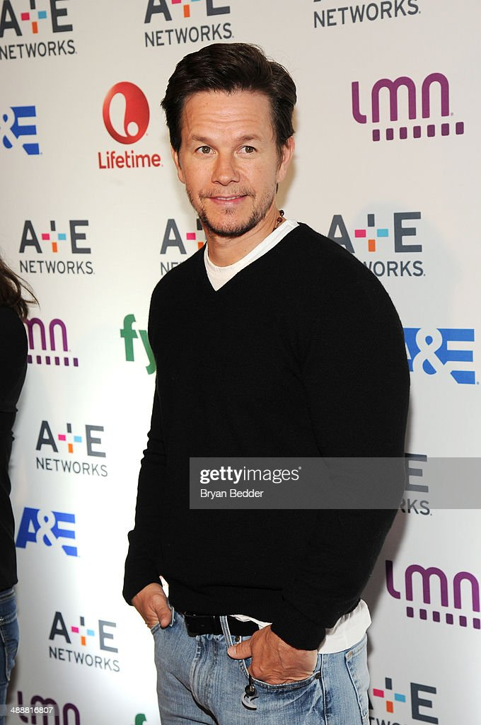 Mark Wahlberg attends the 2014 A+E Networks Upfront on May 8, 2014 in New York City.