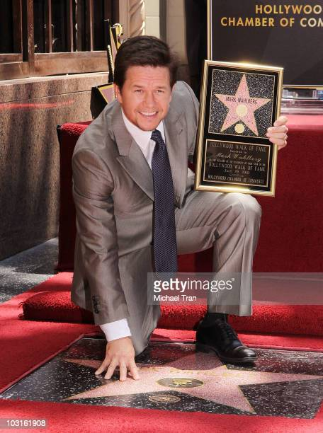 Mark Wahlberg attends the Hollywood Walk Of Fame star ceremony honoring him held on July 29 2010 in Hollywood California