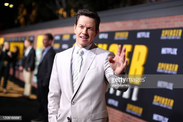 Mark Wahlberg attends the Netflix Premiere Spenser Confidential at Westwood Village Theatre on February 27, 2020 in Westwood, California.