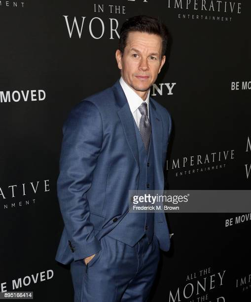 Mark Wahlberg attends the premiere of Sony Pictures Entertainment's 'All The Money In The World' at Samuel Goldwyn Theater on December 18 2017 in...