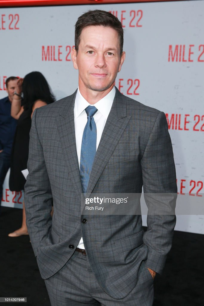 Mark Wahlberg attends the premiere of STX Films' 'Mile 22' at Westwood Village Theatre on August 9, 2018 in Westwood, California.