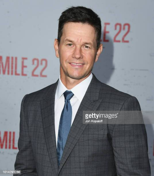 Mark Wahlberg attends the premiere of STX Films' Mile 22 at Westwood Village Theatre on August 9 2018 in Westwood California