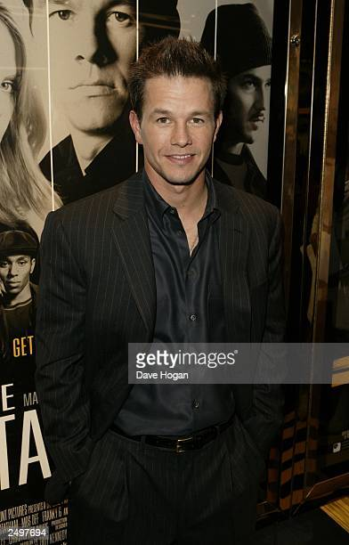 """Mark Wahlberg attends the UK charity premiere of """"The Italian Job"""" at the Empire, Leicester Square on September 15, 2003 in London."""