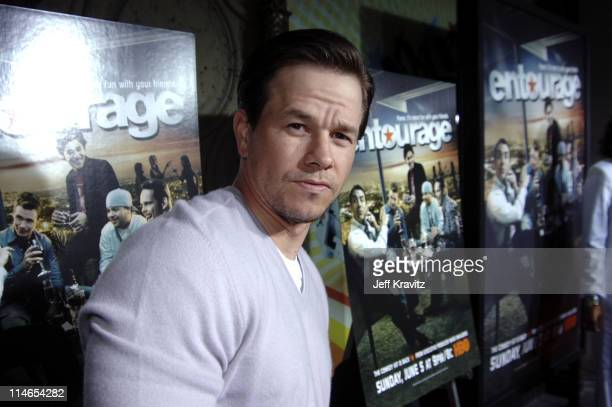 Mark Wahlberg during 'Entourage' Season Two Los Angeles Premiere Arrivals at El Capitan Theater in Hollywood California United States