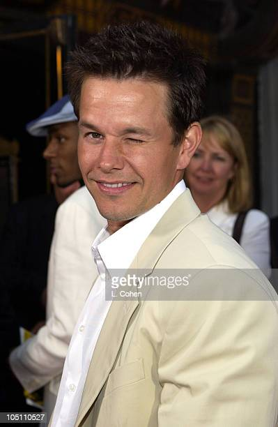 Mark Wahlberg during World Premiere of 'The Italian Job' Red Carpet at Grauman's Chinese Theatre in Hollywood California United States